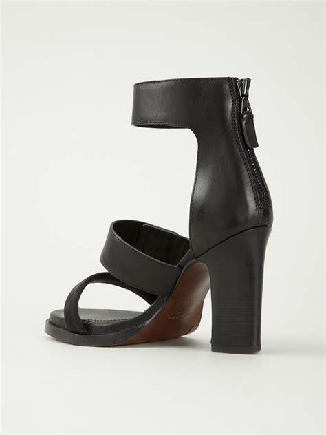 black block sandals rag bone block heel leather sandals in black lyst