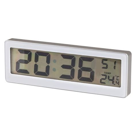Digital Wall Mounted Room Thermometer by Digital Lcd Clock With Thermometer C 176 F 176 Desk Or Wall Mount Brand New Ebay