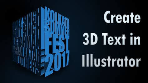 3d text design tutorial in adobe illustrator youtube create 3d text in illustrator tutorial in hindi youtube