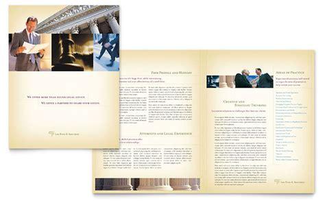 attorney legal services brochure template design