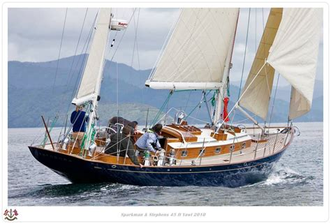 yawl sailboat sparkman and stephens 45 ft yawl classic yachts