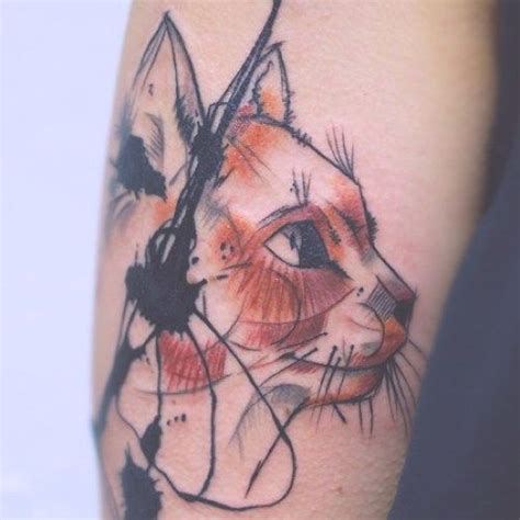 watercolor tattoo ulm tatuaje cara gato abstracta tatuajes de gatos ara 241 azos