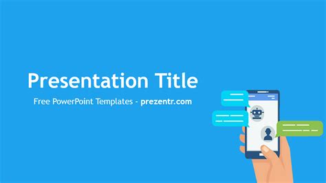 Free Chatbots Powerpoint Template Prezentr Powerpoint Image Processing Ppt Slides Free