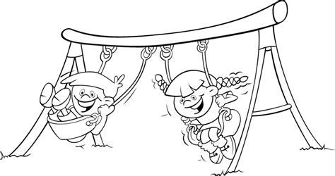 swing color dibujos para colorear actividades de verano colorear