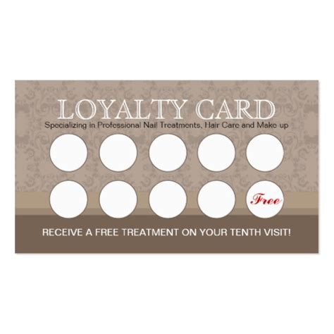 loyalty card template nail salon loyalty cards business card templates