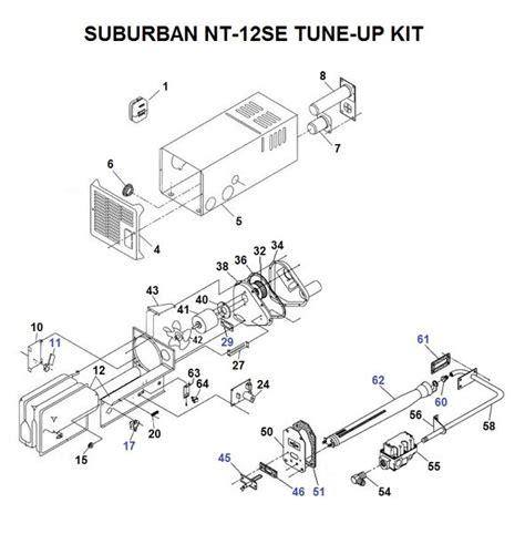 suburban furnace parts diagram suburban furnace model nt 12se parts pdxrvwholesale
