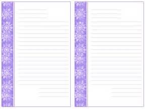 Free Printable Christmas Writing Paper Free Printable Christmas Snowflake Writing Paper