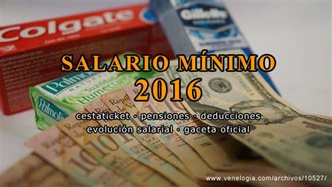 salario minimo en venezuela monto 2016 sueldo minimo en venezuela a partir de marzo anexo