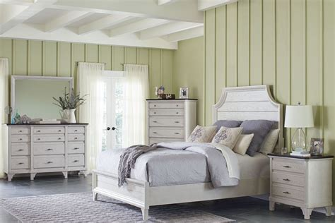 white panel bedroom set mystic cay white panel bedroom set from avalon furniture