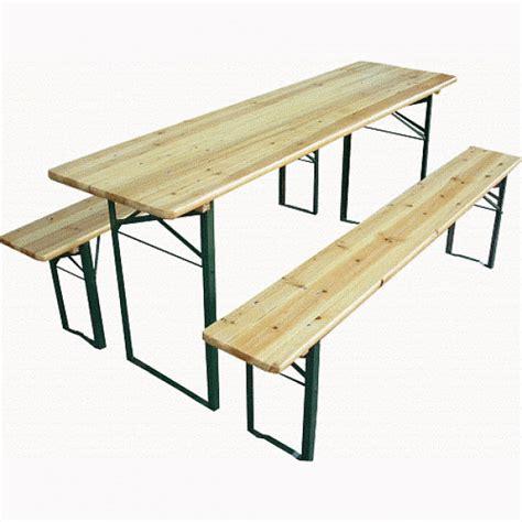 tavoli e panche pieghevoli 613064l set birreria acciaio e legno pieghevole tavolo e