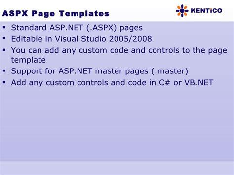 cms templates for asp net kentico cms overview