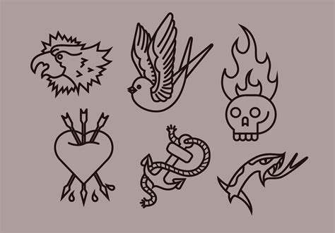 tattoo old school vector old school tattoo vector illustrations download free