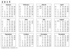 Calendar With Week Numbers 2015 Weekly Number Calendar 2015 Weekly Calendar Template