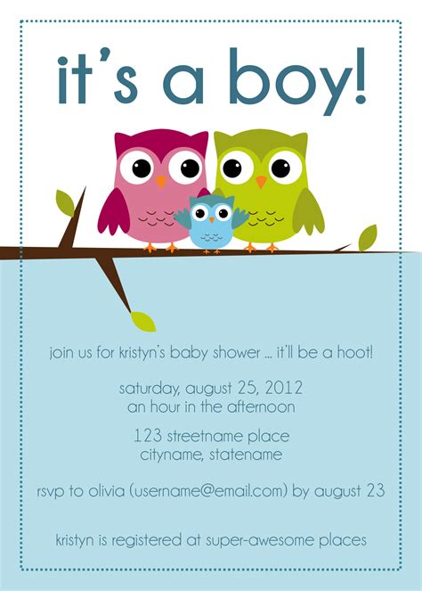 owl themed baby shower invitation template photo owl baby shower invitations image