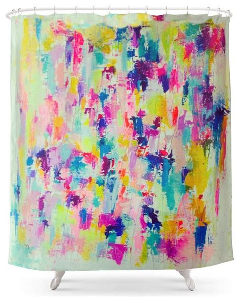 bright colorful shower curtains society6 society6 bright neon colorful abstract painting