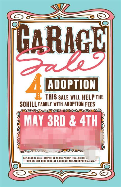 adoption fundraiser yard sale eat run teach
