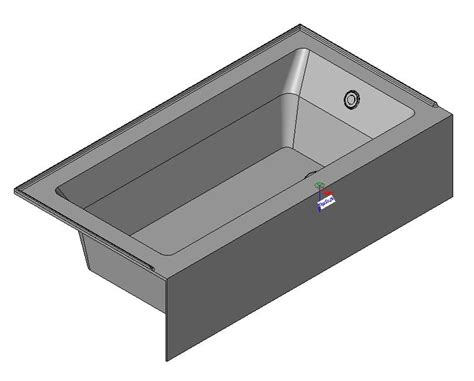 Bathtub Revit by Bath In Autodesk Revit Object Family Bibliocad