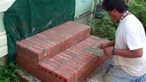 constructing brick steps  installing   door youtube