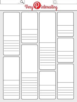 very pinteresting blank pinterest worksheet template