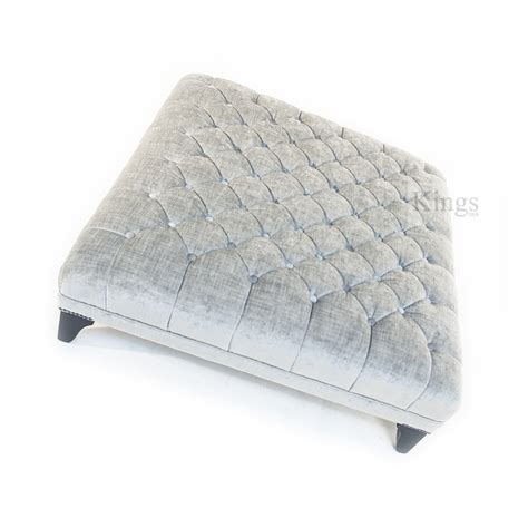silver ottoman john sankey boothby square ottoman in silver velvet sold