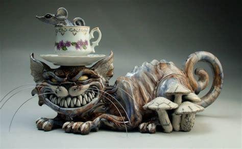 mitchell grafton creates mutant  mecha animal pottery