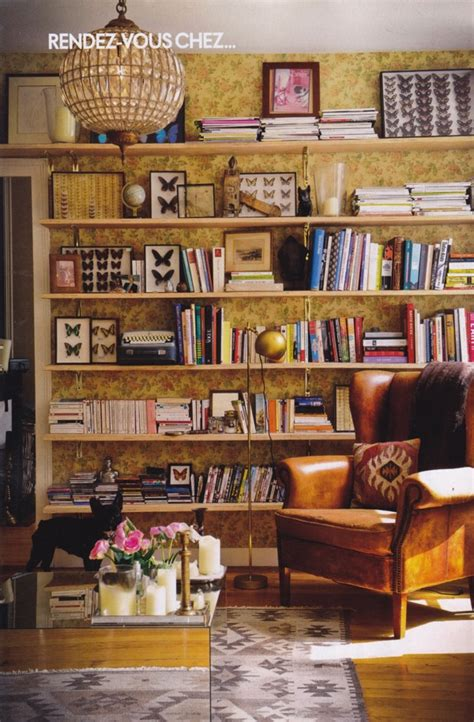 living room reading nook in the home belonging to architect laura gonzalez wallpaper open