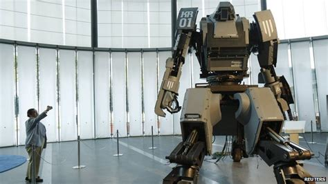film robot systems giant remote controlled robot is built in japan cbbc