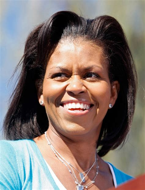 michelle obama without her wig michelle obama is an ugly