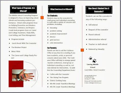 middle school counselor resources the middle school counselor handouts brochure sc