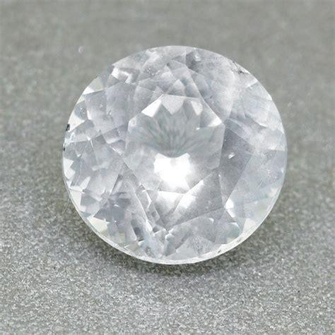 2 5 Ct White Sapphire Ceylon ceylon white sapphire 2 05 ct brilliant cut