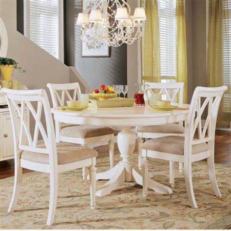 wood dining table painted cottage chic shabby