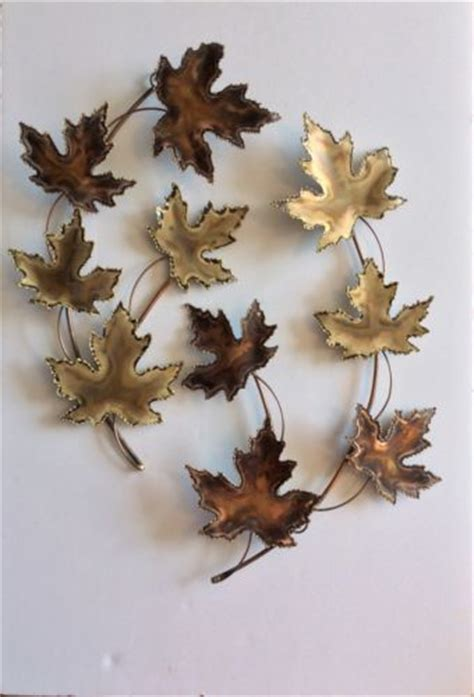 leaves wall decor wall designs leaf wall copper maple leaf wall