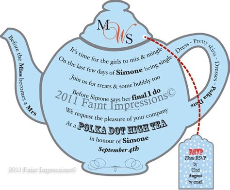 Teapot Invitation Templates Printable Teapot Invitation Template Printable