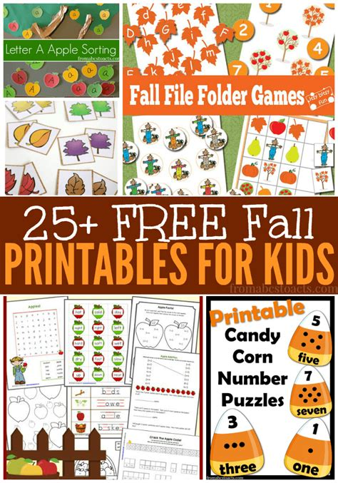 fall printables  kids  abcs  acts