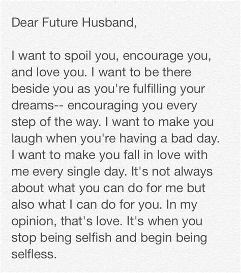 thank you letter to a loving husband is selfless not selfish quotes relationship