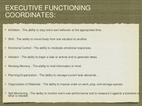 executive functioning in autism spectrum disorders