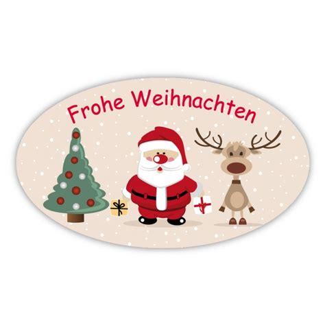 Flaschenaufkleber Weihnachten by Weihnachtsaufkleber Oval Quot Frohe Weihnachten Mit Baum