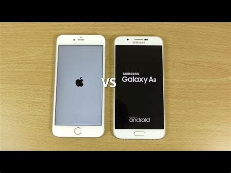 iphone 6s plus vs samsung galaxy a8 speed & camera test