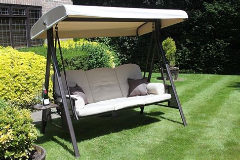 swing patio furniture rimini 3 seat patio swing chair innovators international