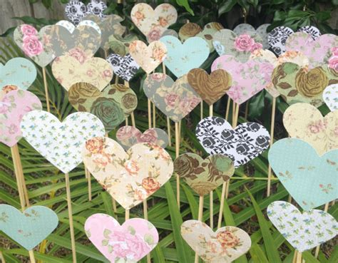 Wedding Aisle Umbrella by 200 Shabby Chic Hearts On A Stick Wedding Aisle