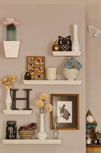 How To Decorate Living Room Wall Shelves Cute Shelves For The Home Pinterest