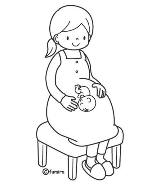 imagenes secuencias temporales para colorear dibujos sobre el embarazo para colorear