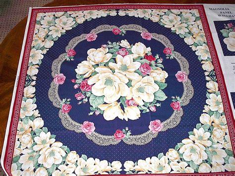 magnolia floral fabric panel cotton quilting quilt