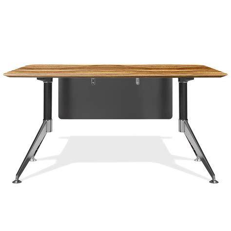 400 Series 55 Executive Modern Desk In Zebrano Wood Sleek Modern Desk