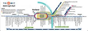 portland oregon max map image gallery light rail map