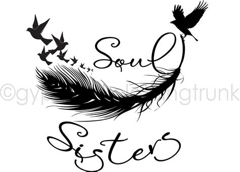 soul sister car decal sister window decal hippie decal