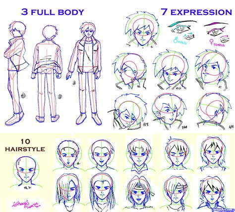 doodle drawer how to draw guys step by step anime characters anime