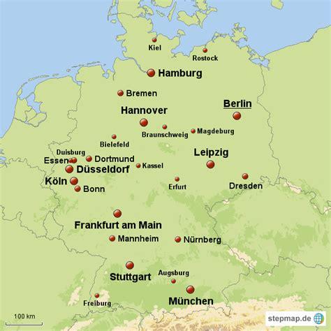 deutsches büro grüne karte adresse deutsche gro 223 st 228 dte maxi76 landkarte f 252 r deutschland