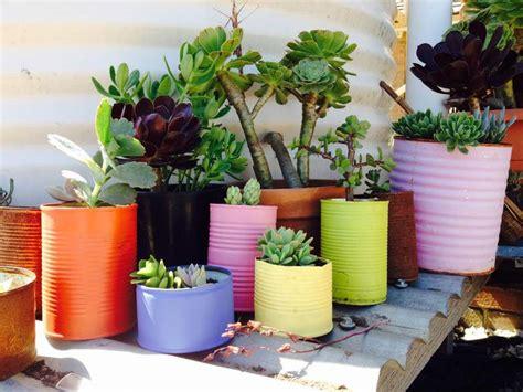 Pot Flowers Kaleng recycled tin can pot plants image 1