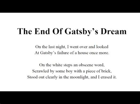 analysis of the great gatsby last page the great gatsby novel f scott fitzgerald last page is a